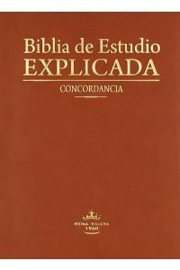 Biblia de estudio Explicada (Piel especial Marrón Claro) RVR60 -