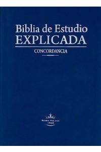 Biblia de estudio Explicada (Piel especial Azul) RVR60 -