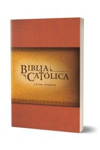 Biblia Católica, edición letra grande, rústica, roja -
