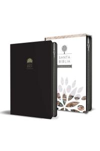 Biblia RVR 1960 - Tamaño manual, letra grande, cuero de imitación, color negro, con cremallera -  - RVR 1960- Reina Valera 1960,
