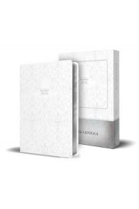 Biblia Católica en español. Boda, bautizo, primera comunión, confirmación y cumpleaños. Caja blanca regalo, tamaño compacta -