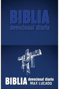 Biblia devocional diaria RVR60: Imitación piel - Azul -  - Lucado, Max