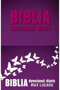 Biblia devocional diaria RVR60: Imitación piel - Rosa -  - Lucado, Max