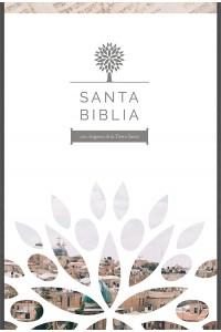 Biblia RVR 1960 - Letra Grande, Imitación Piel Negra Con Imágenes de Tierra Santa  -  - RVR 1960- Reina Valera 1960,
