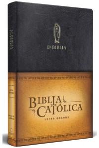 Biblia Católica, edición letra grande. símil piel negra. -