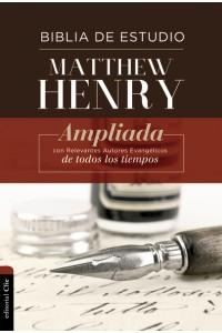 Biblia de Estudio Matthew Henry  Tapa Dura Tela RVR 1977 -  - Henry, Matthew