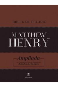 Biblia de Estudio Matthew Henry Leathersoft, Clásica Café RVR 1977 -  - Henry, Matthew
