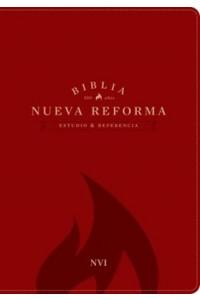 Biblia de Estudio y Referencia Nueva Reforma Piel Italiana Roja