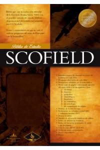 RVR 1960 Biblia de Estudio Scofield, chocolate imitación piel -
