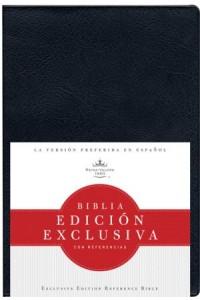 RVR 1960 Biblia Edición Exclusiva con Referencias, negro vinilo -