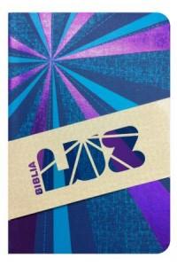 RVC Biblia Luz, Rayos de Azul/violeta símil piel -