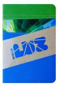 RVC Biblia Luz, Verde/Cielo símil piel -