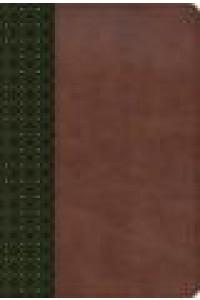 Biblia de Estudio Scofield RVR 1960 verde oscuro/castaño símil piel -
