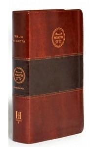 Biblia Peshitta, caoba duotono símil piel -