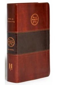 Biblia Peshitta, caoba duotono símil piel con índice -