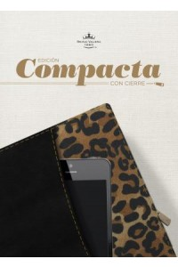 RVR 1960 Biblia, Edición Compacta con cierre, negro/leopardo símil piel -