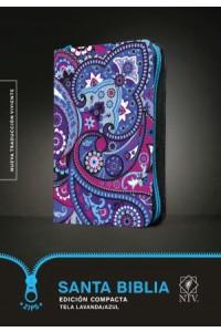 Santa Biblia NTV, Edición compacta, Tela lavanda / azul: Holy Bible NTV, Compact Edition, Lavender/Blue Cloth -  - Tyndale