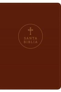 Biblia  letra grande RVR60, Edición de referencia ultrafina, Letra Roja, SentiPiel, Café rojizo -  - Tyndale Bible