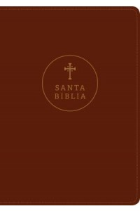 Biblia letra grande RVR60, Edición de referencia ultrafina,  Letra Roja, SentiPiel, Café rojizo, Índice -  - Tyndale Bible