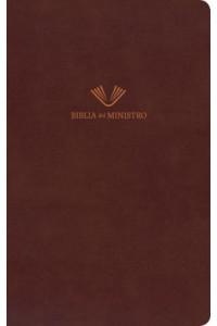 Biblia del ministro, RVR 1960, Holman, marrón café piel fabricada -