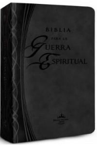 Biblia para la Guerra Espiritual (Imitación piel negra) -