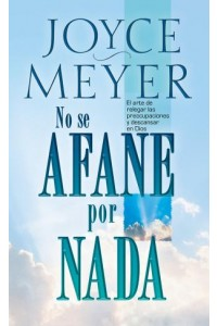 No Se Afane Por Nada - Pocket Book -  - Meyer, Joyce
