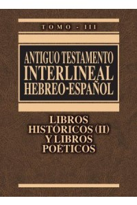 Antiguo Testamento Interlineal Hebreo-Español Vol. 3 -  - Zondervan,