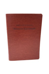 Biblia de Estudio Herencia Reformada RVR 1960, Piel Imit. Simil Café -  - Beeke, Joel R.