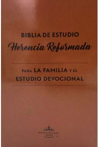 Biblia de Estudio Herencia Reformada RVR 1960, Marrón, Tapa Dura -  - Beeke, Joel R.