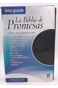 Biblia de Promesas RVR 1960 Letra Grande, Negra con cierre y indice -